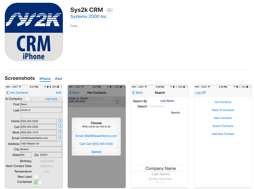 Sys2k CRM